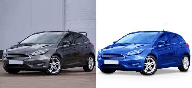 Car photo Editing color correction