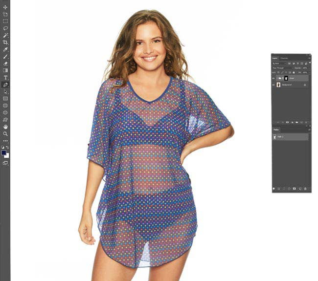 Photoshop see through clothes